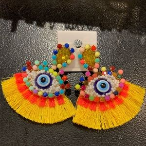 *New* colorful evil eyes earring